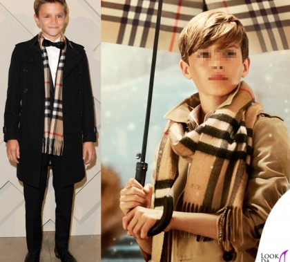 Romeo Beckham Burberry From London with love total Burberry