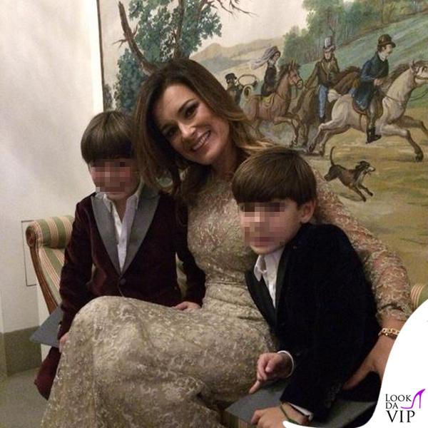 Alena Seredova abito Luisa Beccaria Louis Thomas David Lee Buffon abiti Pinco Pallino