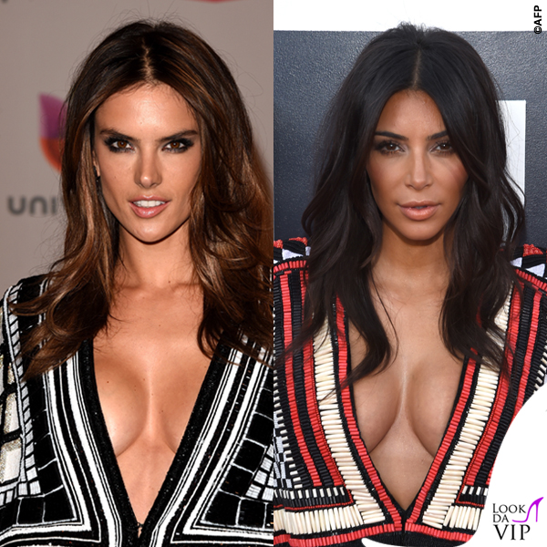 Alessandra Ambrosio Kim Kardashian abito Balmain