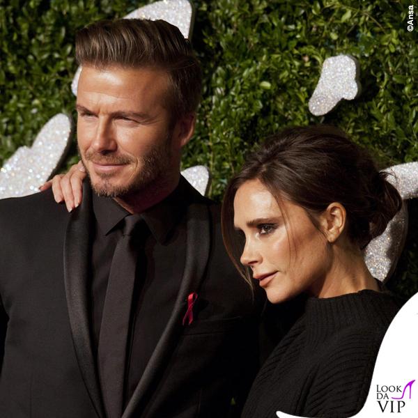 British Fashion Awards David Beckham abito Dior Victoria Beckham maglione gonna Victoria Beckham scarpe Manolo Blanik 3