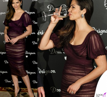 Camila Alves Madrid Dom Perignon abito Dolce&Gabbana