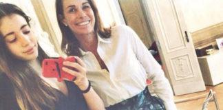 Cristina Parodi Angelica Gori gonna Pinko cover Moschino