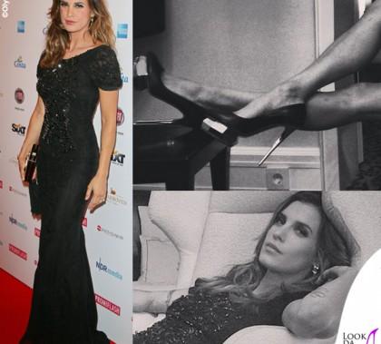 Elisabetta Canalis Amburgo Movie Meets Media abito Roberto Cavalli scarpe Mambrini orecchini Faraone Mennella