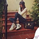 Elisabetta Gregoraci borsa V73 scarpe Diadora