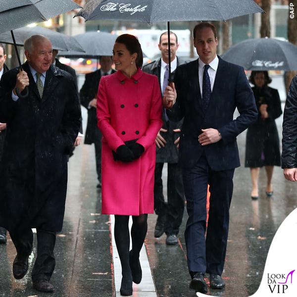 Kate Middleton New York 9_11 Memorial cappotto Mulberry fucsia 5