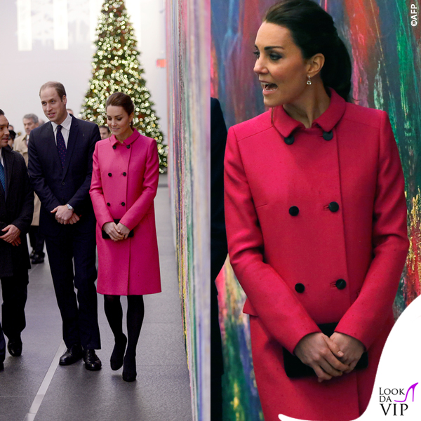 Kate Middleton New York 9_11 Memorial cappotto Mulberry fucsia 6