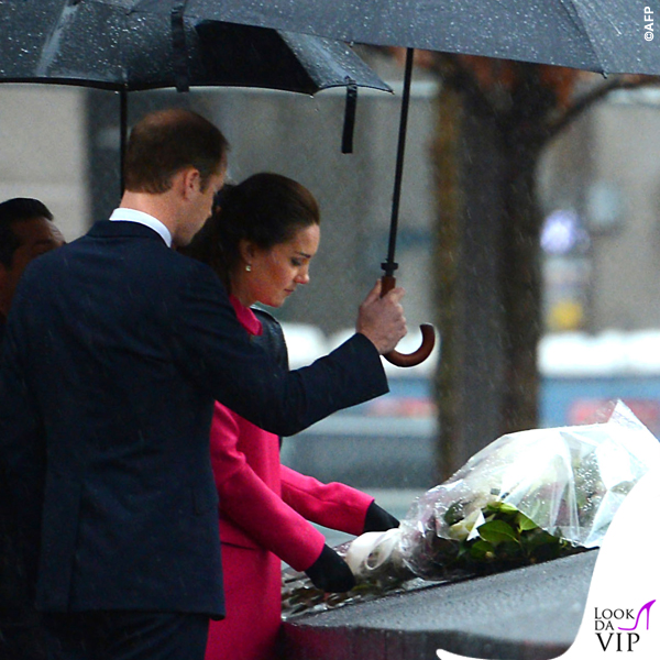 Kate Middleton New York 9_11 Memorial cappotto Mulberry fucsia