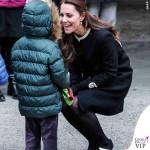 Kate Middleton New York cappotto Goat Washington nero 2