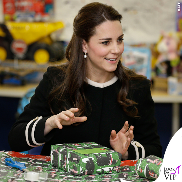 Kate Middleton New York cappotto Goat Washington nero