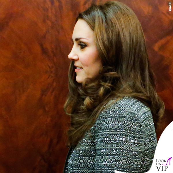 Kate Middleton New York cappottoTory Burch Bettina grigio