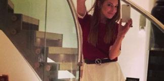 Lindsay Lohan abito Daisy Street cintura Hermès