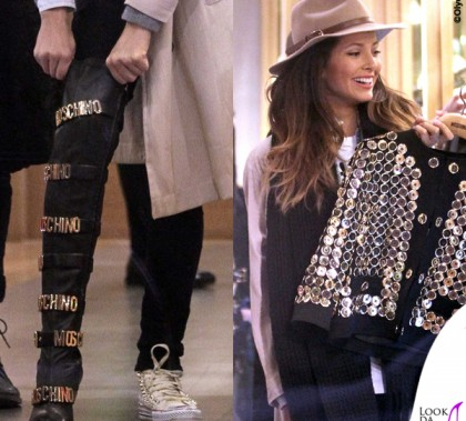 Mariana Rodriguez giacca stivali Moschino
