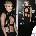 Miley Cyrus amfAR Inspiration Gala Hollywood abito Tom Ford 2