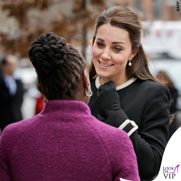 New York Chirlane McCray Kate Middleton cappotto Goat Washington nero