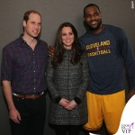 New York Principe William Kate Middleton cappottoTory Burch Bettina grigio LeBron James