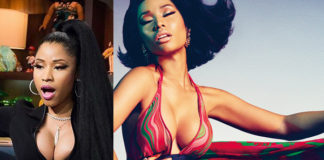 Nicki Minaj top Givenchy abito Roberto Cavalli