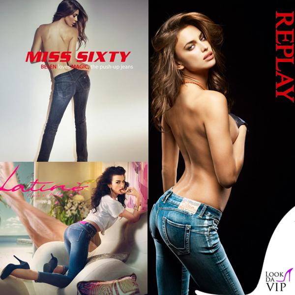 Belen Nuda Calendario.Campagne Denim Belen Rodriguez Miss Sixty Irina Shayk Replay