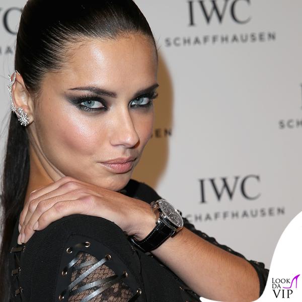 Adriana Lima abito Alexander Mcqueen orologio IWC ...