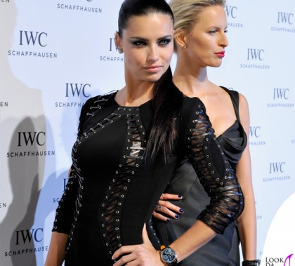 Adriana Lima abito Alexander Mcqueen orologio IWC Schaffhausen Karolina Kurkova abito Zac Posen orologio IWC Schaffhausen