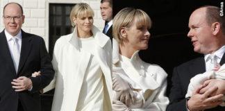 Alberto di Monaco Charlène Wittstock abito cappotto Akris 9