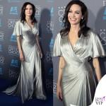 Angelina Jolie Critics' Choice Awards abito Atelier Versace