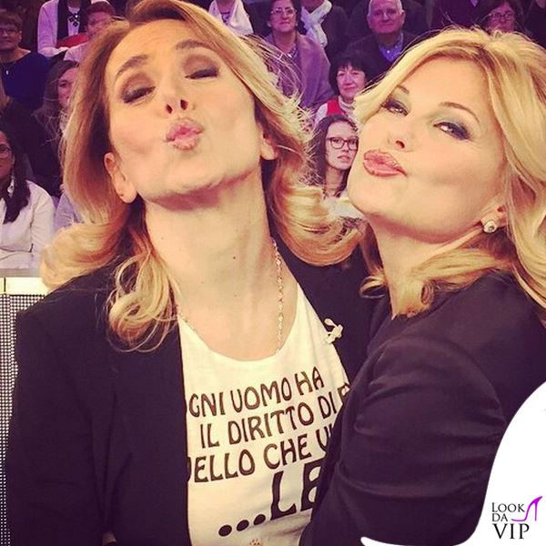 Barbara d'Urso tshirt Tip&Top Patrizia Pellegrini