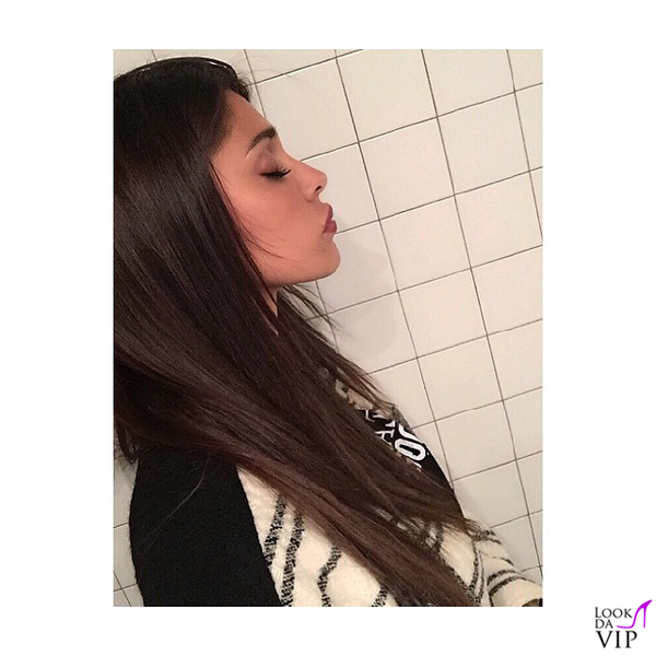 Belen Rodriguez capelli castani 2
