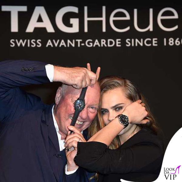 Cara Delevingne testimonial Tag Heuer cronografo TAG Heuer Formula 1 Lady Steel&Ceramic&Diamond 10