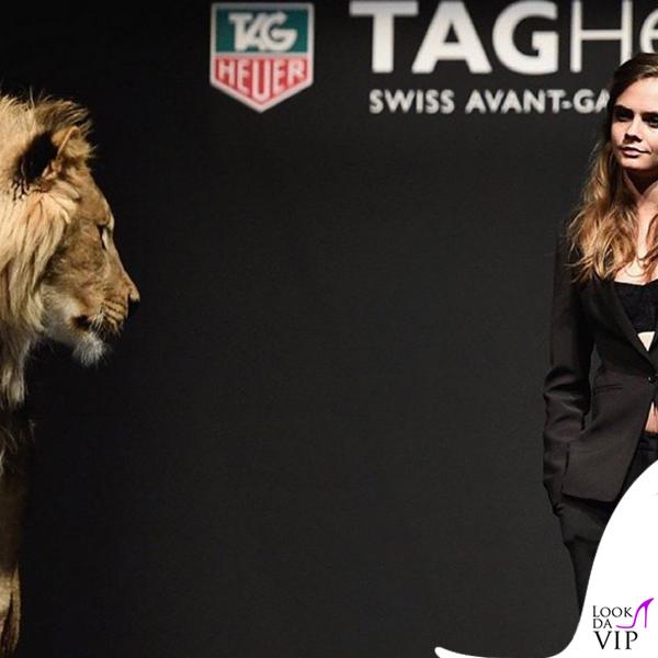 Cara Delevingne testimonial Tag Heuer cronografo TAG Heuer Formula 1 Lady Steel&Ceramic&Diamond 8