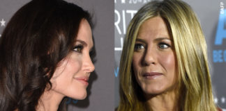 Critics' Choice Awards Angelina Jolie abito Atelier Versace Jennifer Aniston tailleur Gucci 2