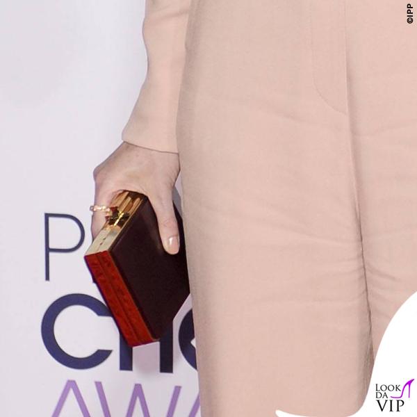 Ellen Pompeo People's Choice Award jampsuit Elie Saab clutch Salvatore Ferragamo orecchini Graziela Gems 13