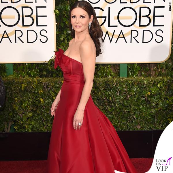 Golden Globe 2015 Catherine Zeta-Jones abito Angels Sanchez 2