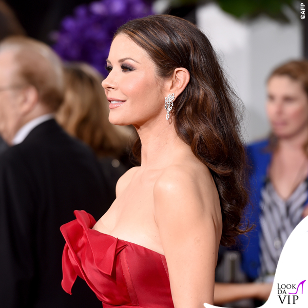 Golden Globe 2015 Catherine Zeta-Jones abito Angels Sanchez 4