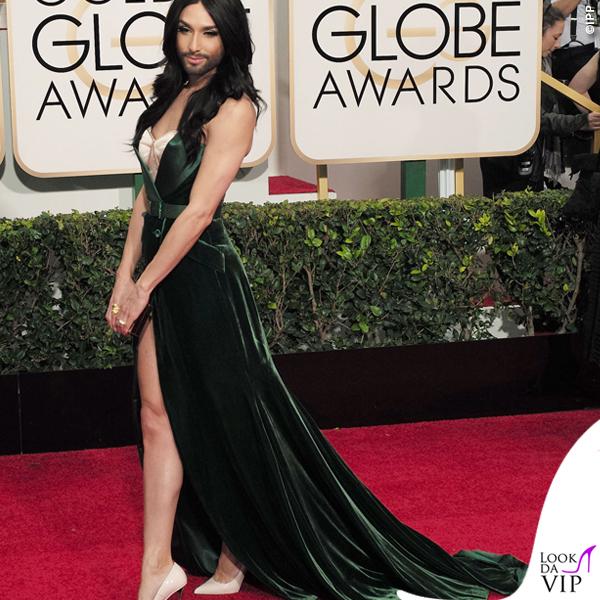 Golden Globe 2015 Conchita Wurst abito Jean Paul Gaultier