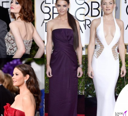 Golden Globe 2015 Emma Stone Catherine Zeta-Jones Katie Holmes Kate Hudson