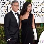 Golden Globe 2015 George Clooney tuxedo Armani Amal Alamuddin abito clutch guanti Christian Dior 3 6