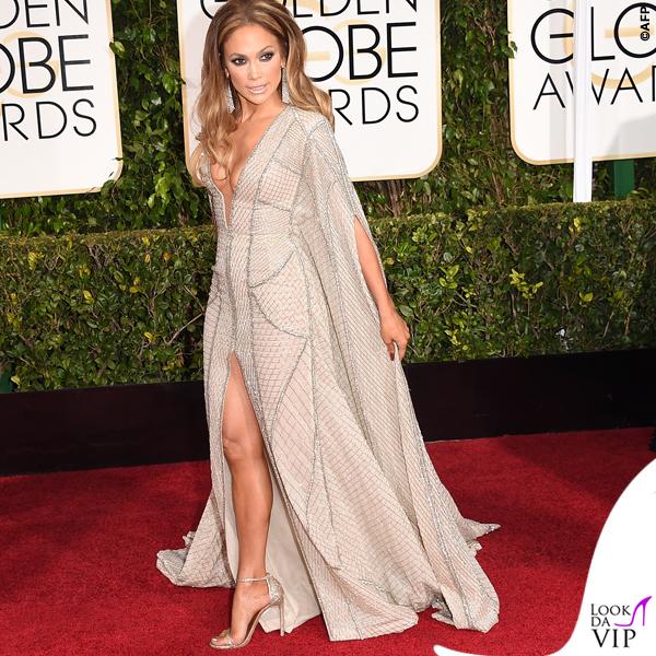 Golden Globe 2015 Jennifer Lopez abito Zuhair Murad