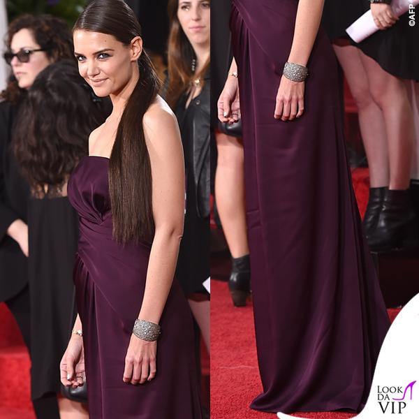 Golden Globe 2015 Katie Holmes abito Marchesa 4