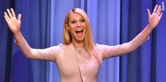 Gwyneth Paltrow The Tonight Show tuta Elie Saab