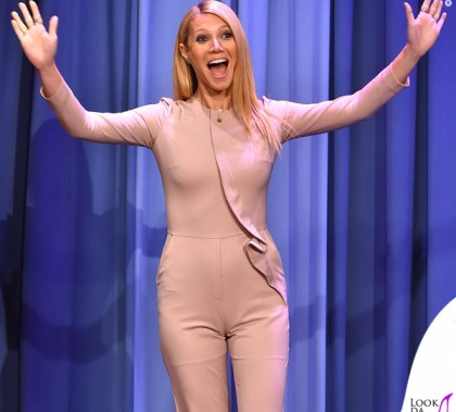 Gwyneth Paltrow The Tonight Show tuta Elie Saab