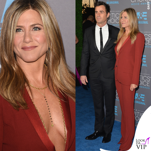 Jennifer Aniston Critics' Choice Awards tailleur Gucci Justin Theroux 3