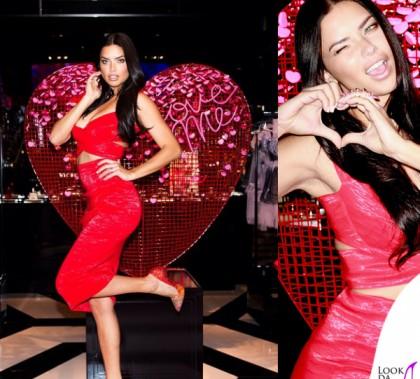 Adriana Lima San Valentino testimonial Victoria's Sectets abito Donna Karan 8