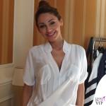 Anna Tatangelo Sanremo camicia G-Sel