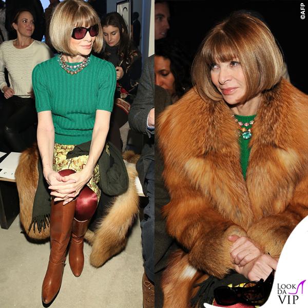 new concept ea483 4b6fa Anna Wintour ricicla l'abito usato per Clooney - Look da Vip
