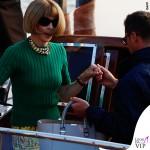 Anna Wintour borsa Victoria Beckham scarpe Manolo Blahnik Venezia Clooney Wedding