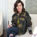 Bianca Atzei maglione giacca Antonio Marras