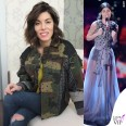 Bianca Atzei maglione giacca abito Antonio Marras