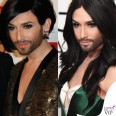 Conchita Wurst Sidaction Gala Dinner Golden Globe abiti Jean Paul Gaultier