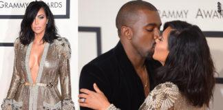 Grammy Awards Kanye West Kim Kardashian abito Jean Paul Gaultier sandali Tom Ford