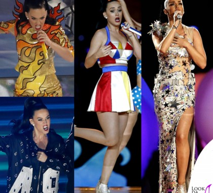 Katy Perry Super Bowl 2015 costumi Moschino by Jeremy Scott